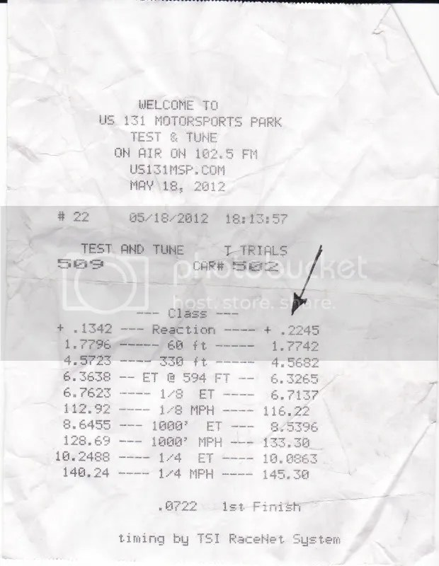 US131 Dragway results from Midnite Madness @ Martin