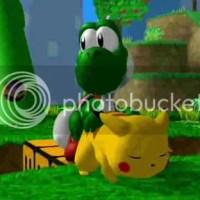 Yoshi es MAYATE y a Pikachú le gusta por atras !!
