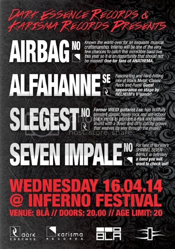 afe4150b8 DARK ESSENCE RECORDS plans to make their annual Inferno Festival event a  little different this yea when they join forces with sister label KARISMA  RECORDS ...