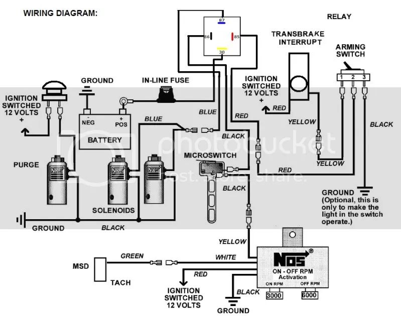 nitrous and transbrake wiring diagram