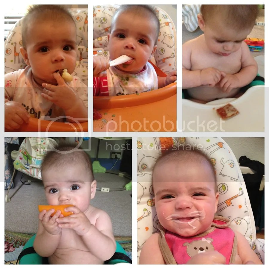 My baby enjoying solid food and BLW