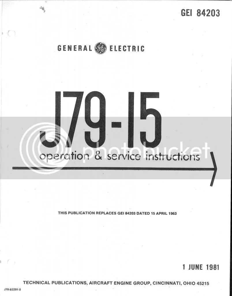General Electric J79 Jet Engine Maintenance Service Manual
