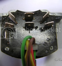 when you take your turn signal out the rear of the switch with the connectors will look like this  [ 1024 x 768 Pixel ]