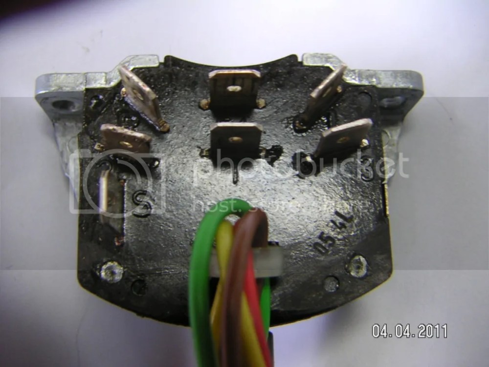 medium resolution of when you take your turn signal out the rear of the switch with the connectors will look like this