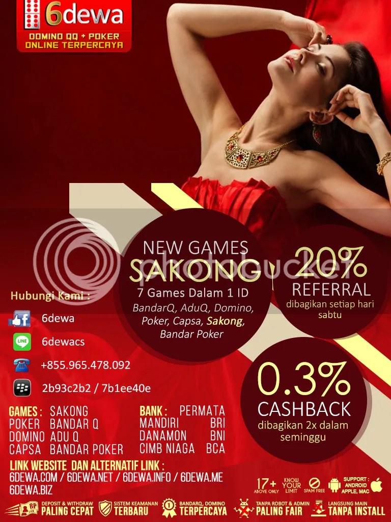 6dewa Agen Judi Poker Domino99 Capsa Susun AduQ BandarQ Bandar Poker Sakong Terpercaya Indonesia