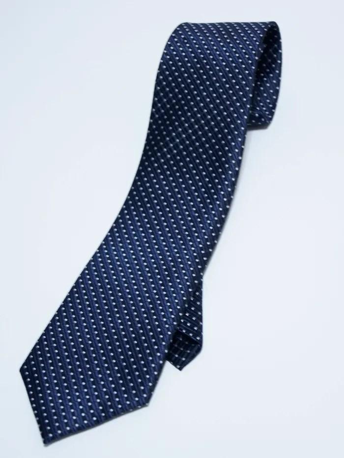 懶人領帶 免綁領帶 好看便宜 上班族 婚禮 (深藍白點) t05_領帶領結_男裝_CPshirt