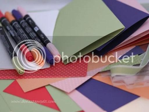 Material-Set Karten-Zubehör-Tasche