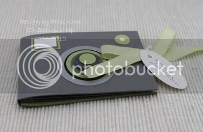 Minialbum als Fotoapparat