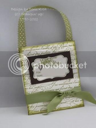 Umschlag-Tasche mit Band