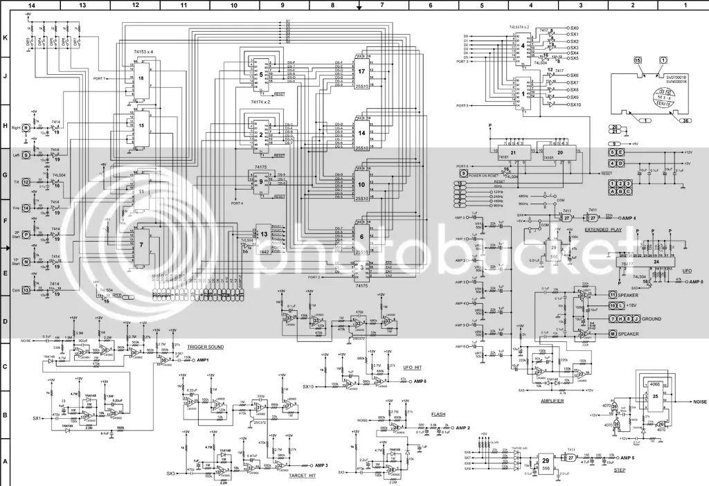 space invaders schematics