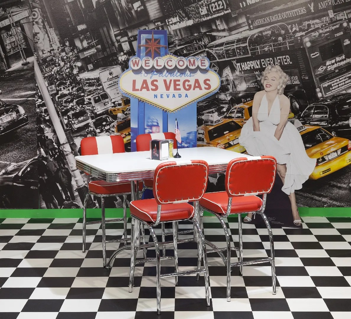 50s Table And Chairs American Diner Furniture 50s Style Retro Rectangular Table