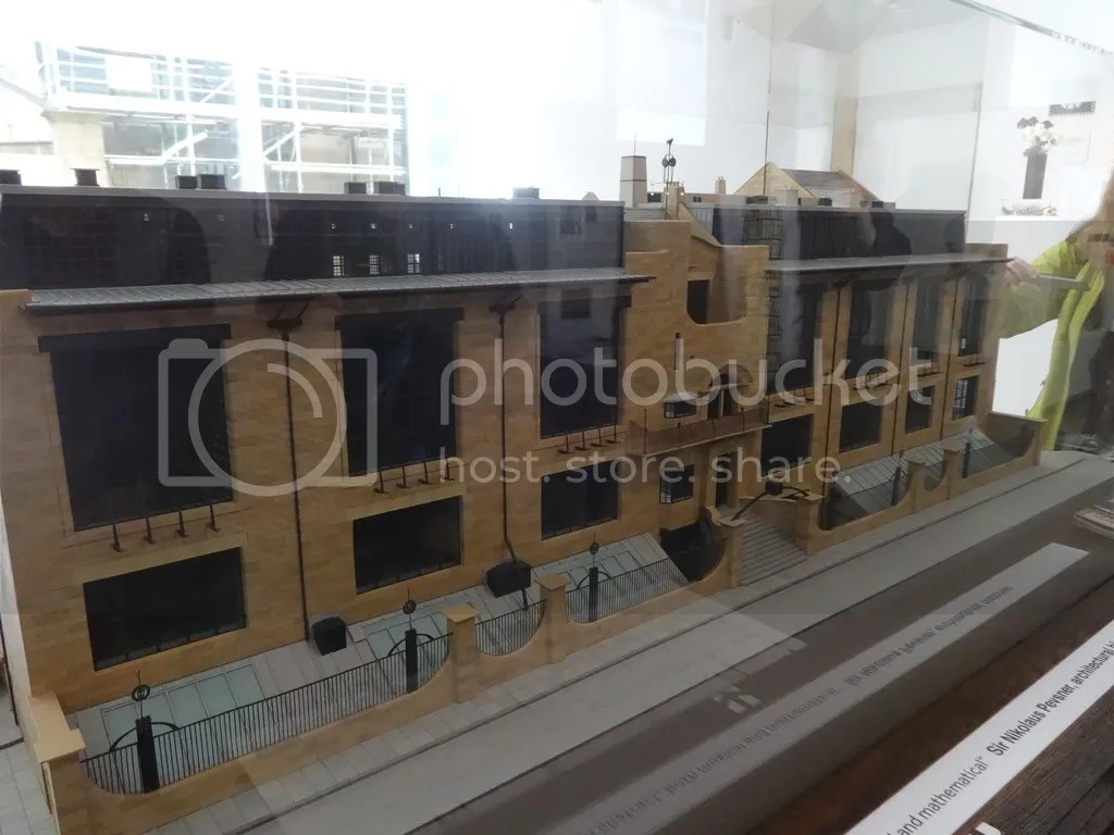 A model of the Mackintosh library before the first. Work is underway to restore the building.