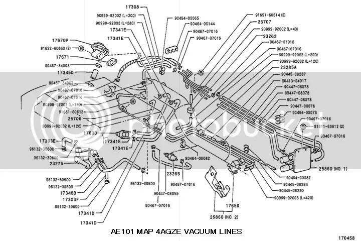 Toyota Highlander Vacuum Hose Diagram