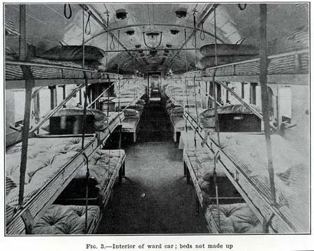 Inside AEF Hospital Train, 1918