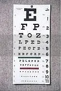 Optician's chart
