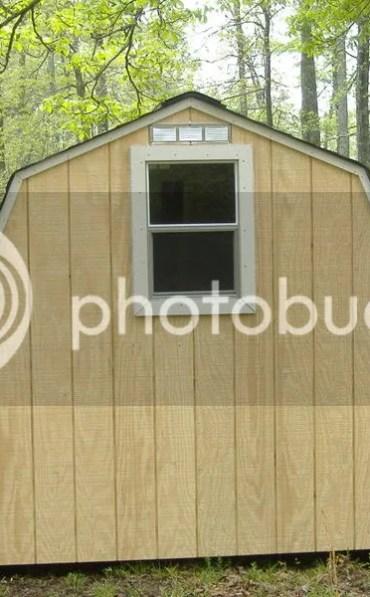 Chicken barn/coop - back (window) - before