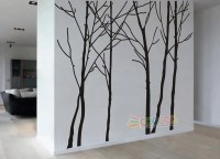 Wall Decor Decal Sticker vinyl large tree trunk forest ...