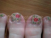 Easy: Flower toe nail art | Fairytale nail art