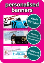 Personalised Photo Banners From Cardiff Balloons