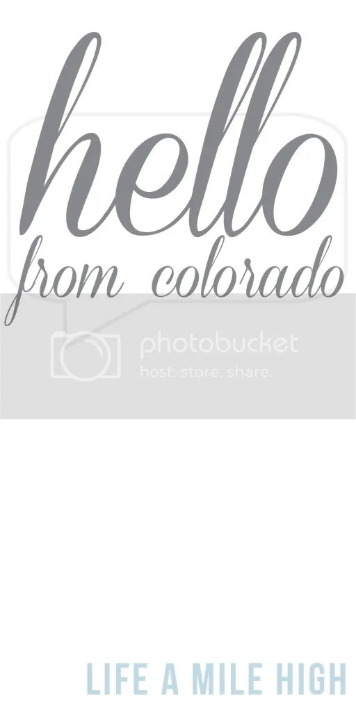 Hi from Colorado: A Blog about Life in Denver