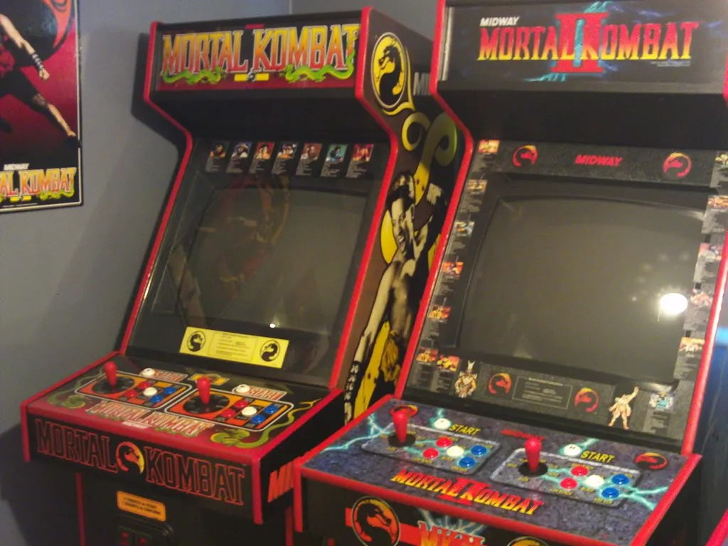 Image result for mortal kombat arcade cabinet