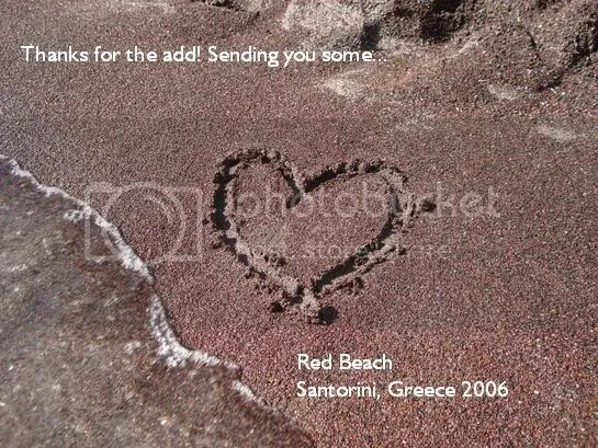Red sand in Santorini: My old myspace thank you.