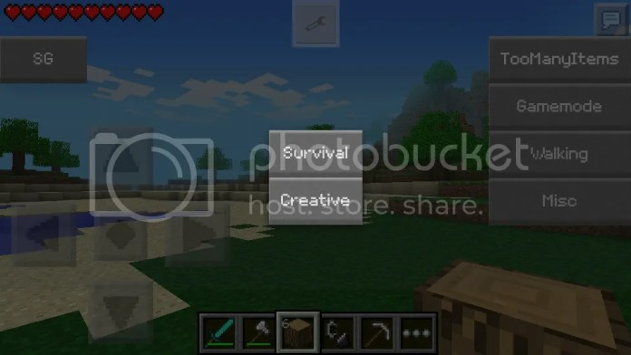SuperGamer Mod MCPE Gamemode Change Mob Editor
