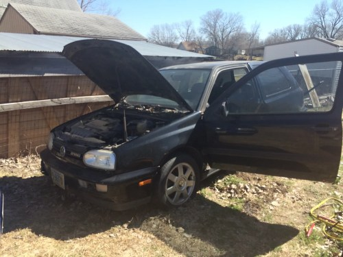 small resolution of parting 1998 volkswagen golf gti vr6 159k strong running vr6 motor 700 picked up local long block transmission is bad hatch is rusted