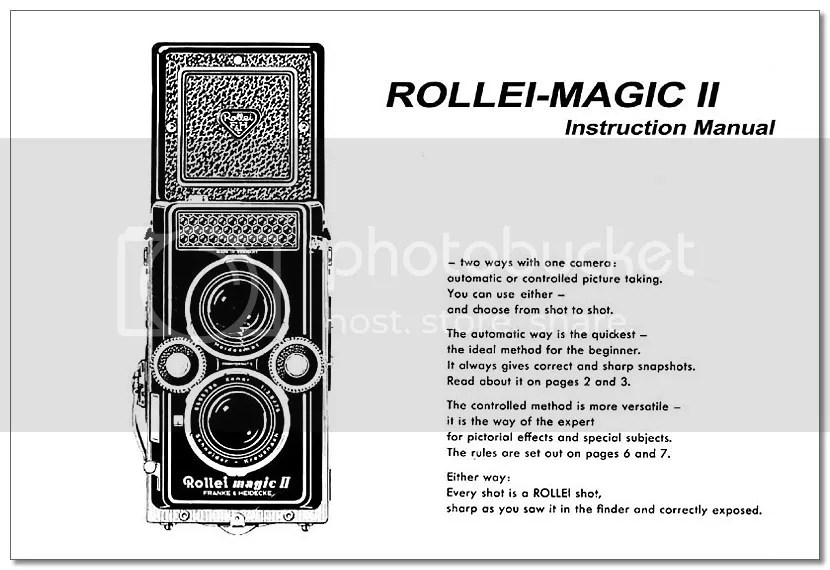 Instruction Manual Rollei Rollei MAGIC-2 II User Manual