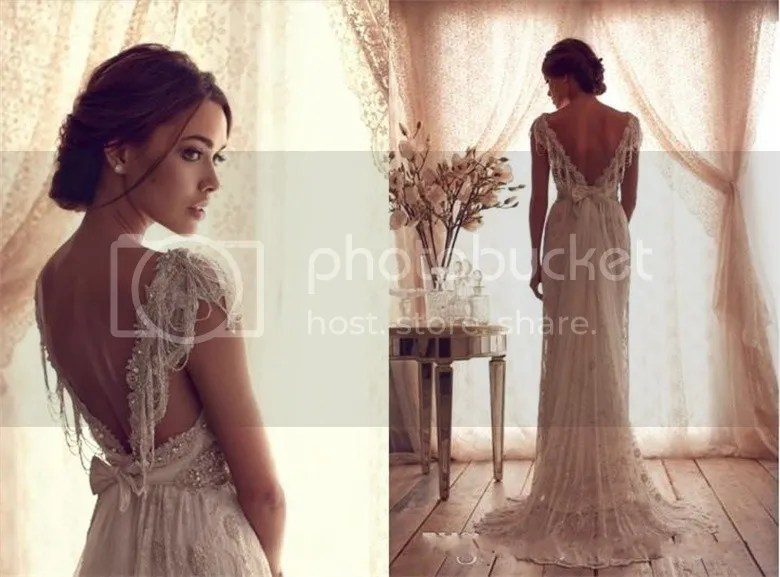Sexy Bridal Backless Wedding Ball Gowns Evening Prom Beach
