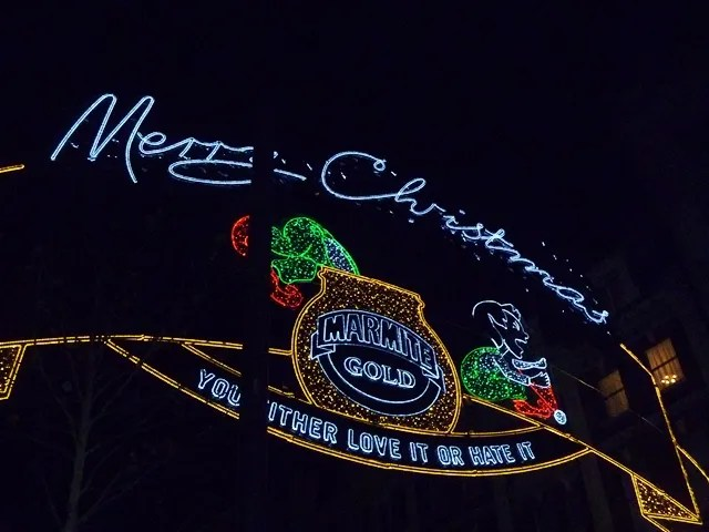 merry christmas oxford street lights