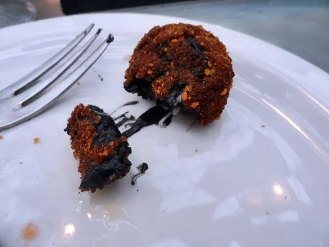 Croquetas Squid Ink, Prawn and Scallop