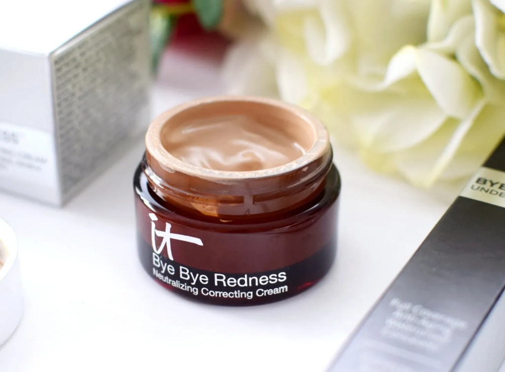 IT cosmetics bye bye redness correcting cream review qvc