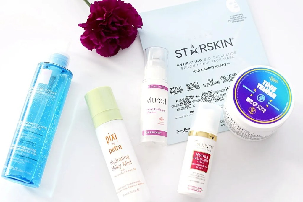 Skincare Products for dehydrated skin