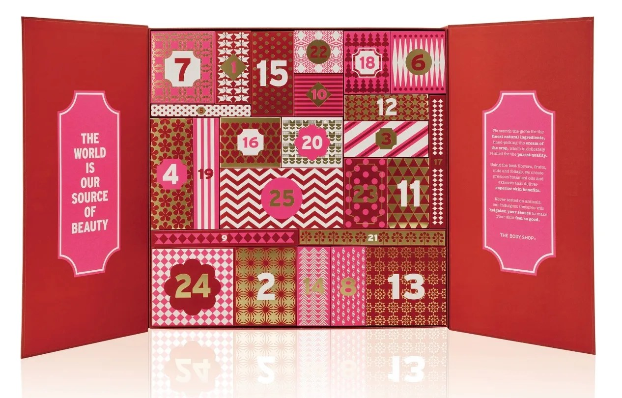 The Body Shop advent calendar 2016