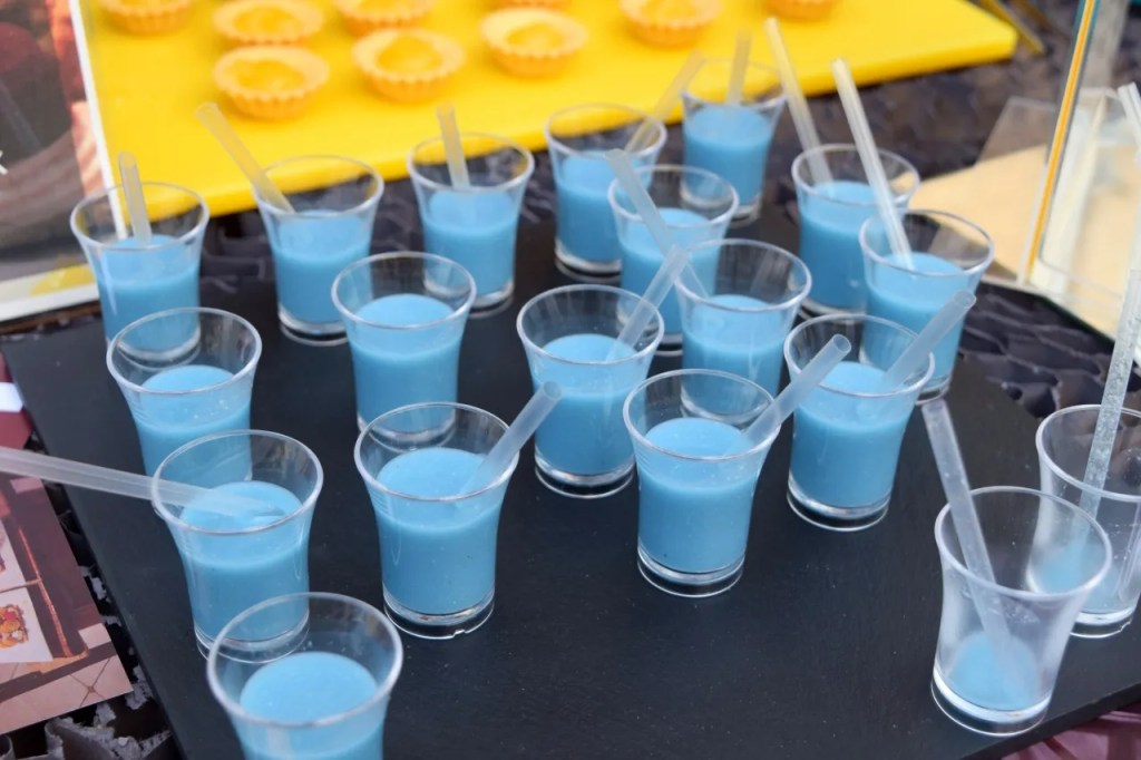 Blue drinks at breaking bad party