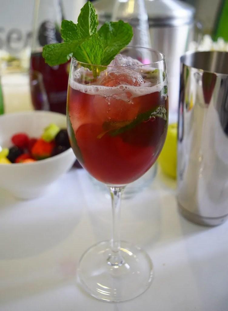 Mocktail with Appletiser