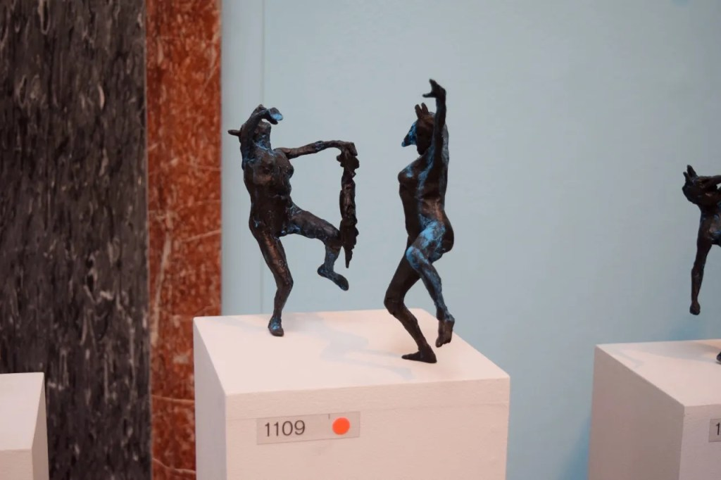 Two Dancing Maenads With Bird Tim Shaw