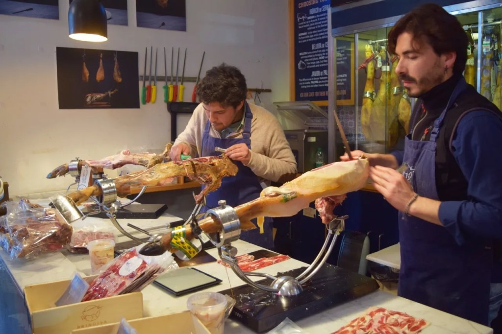 Iberico Ham Carvers Borough Market London | The LDN Diaries