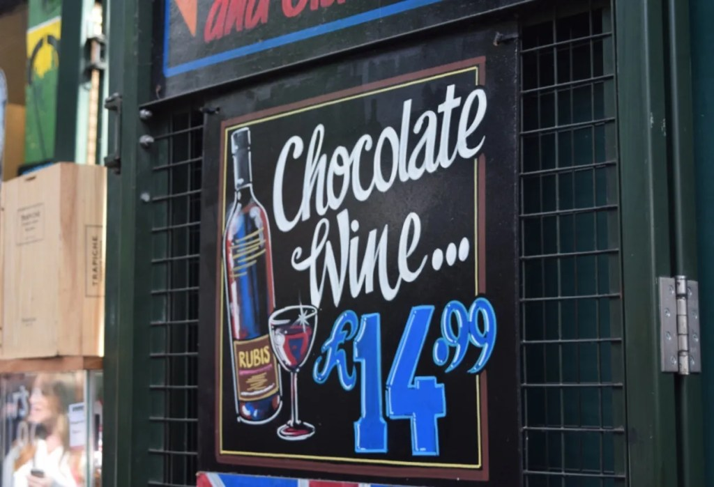 Chocolate Wine Borough Market London | The LDN Diaries
