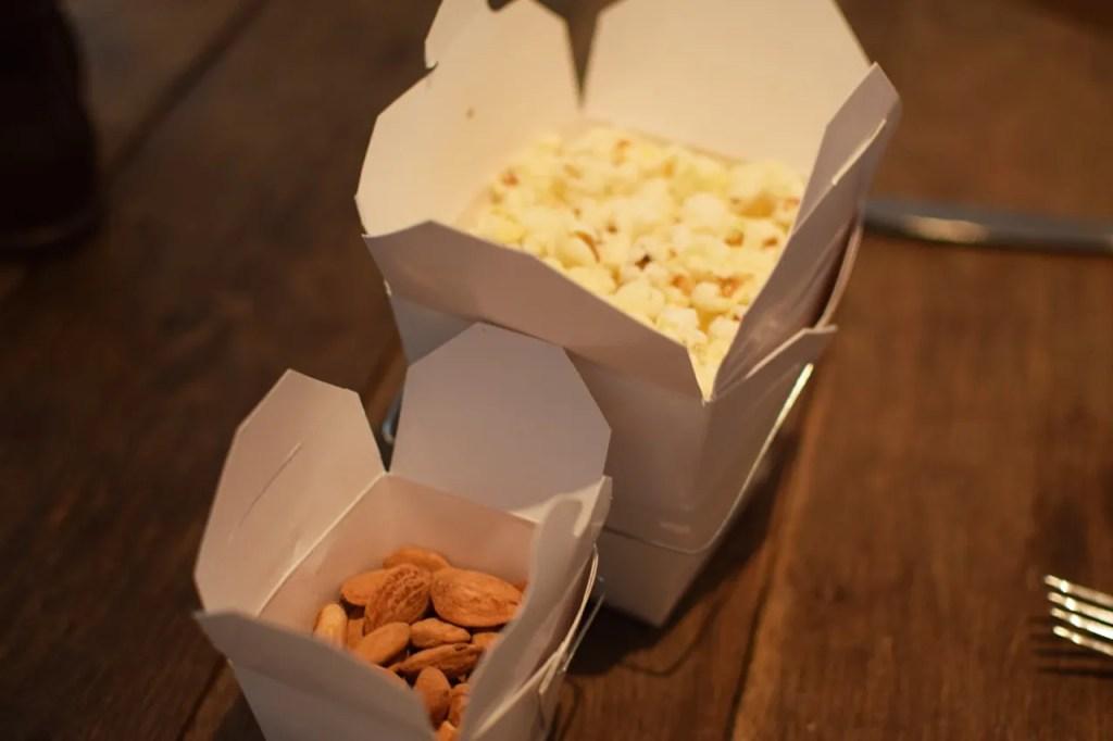 Mews of Mayfair Salt & Pepper Popcorn & Salted Almonds