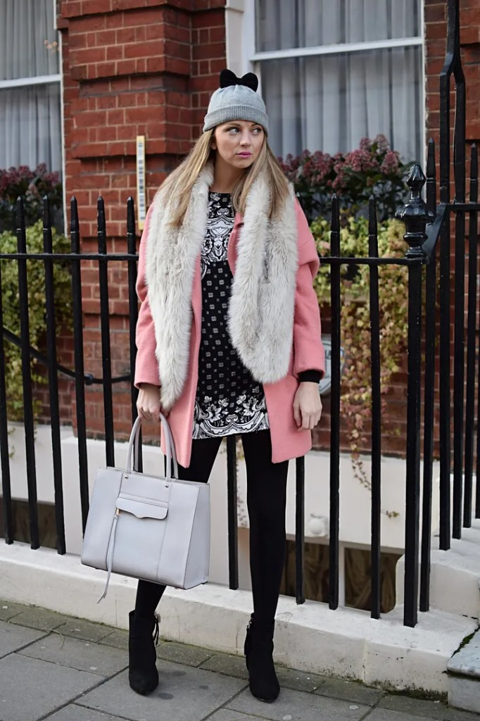 Kate Spade bow hat, Rebecca Minkoff Bag - The LDN Diaries