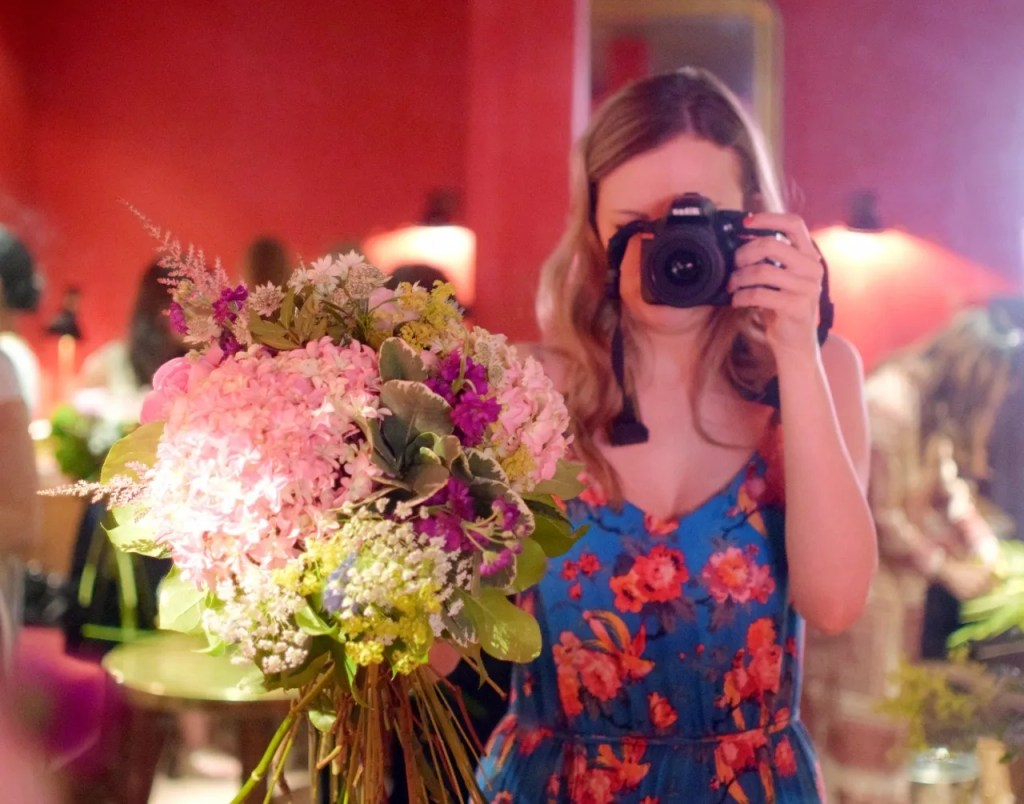 Flower arranging with Zomato at Villandry