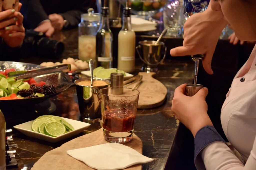 Eastway Brasserie cocktail making