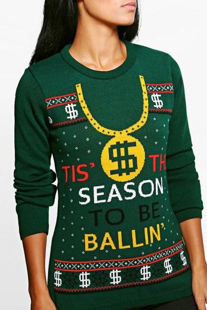 Season to be ballin christmas jumper