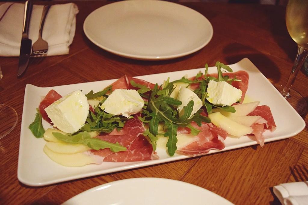 Parma ham, pear, rocket and buffalo mozzarella | Firebrand Pizza