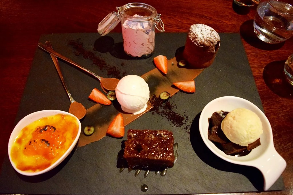 Dessert plate at The Meat Co London