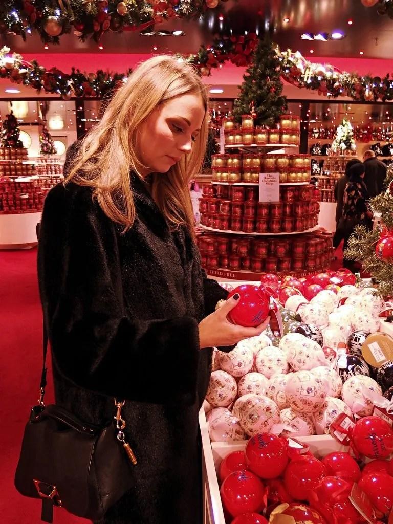 Christmas shopping in Harrods