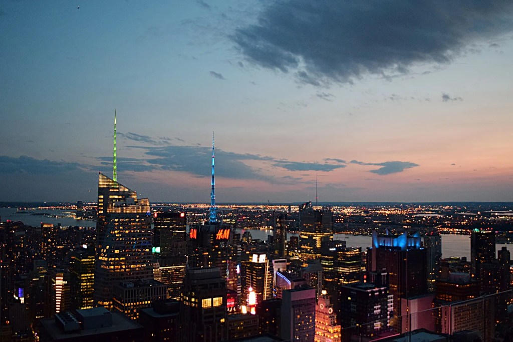 View from Top of the Rock night