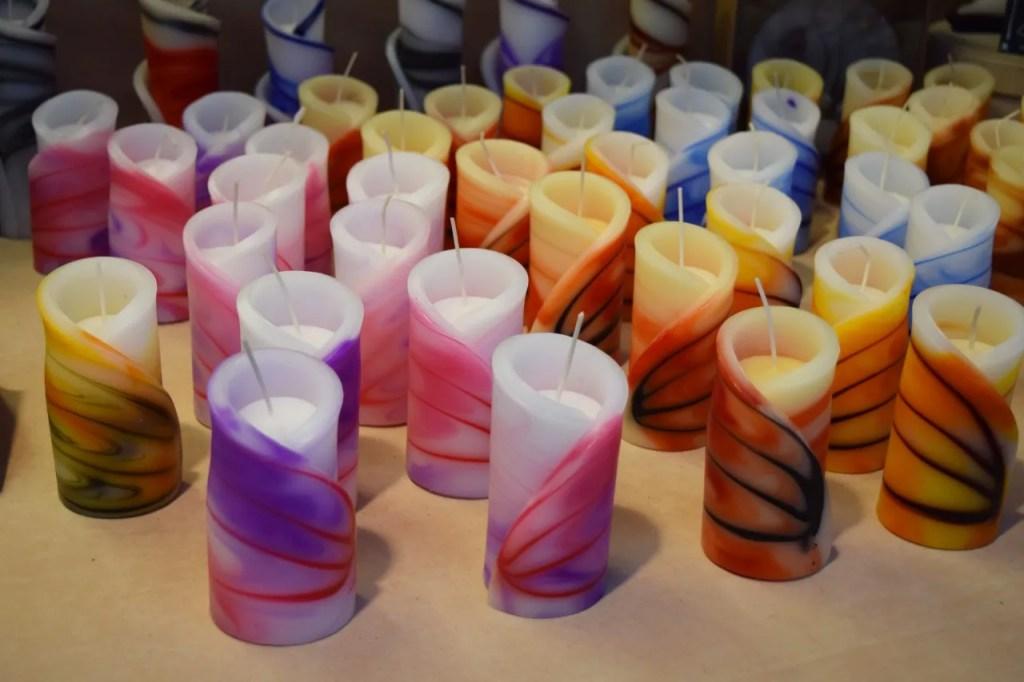 Candles at Christmas Markets